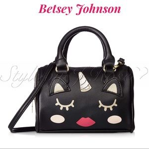 NWT's Betsey Johnson Black Unicorn Crossbody